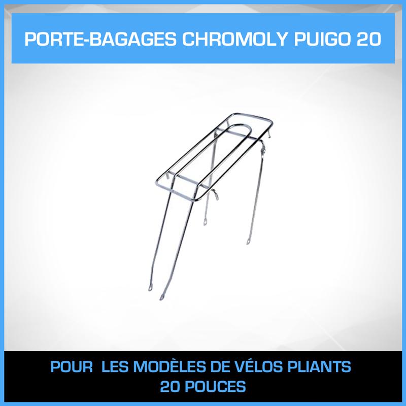 Porte bagage chromoly puigo 20 pouces - Porte bagage velo 20 pouces ...