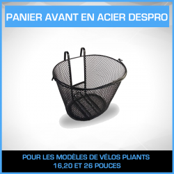 PANIER AVANT POUR VELO PLIANT BLANC MARINE
