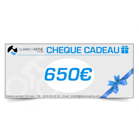 CHÈQUE CADEAU BLANC MARINE - 650 EUROS