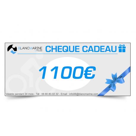 CHÈQUE CADEAU BLANC MARINE - 1100 EUROS