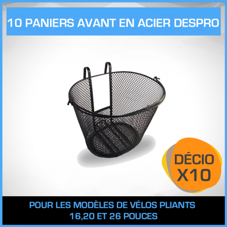 10 PANIERS AVANTS EN ACIER DESPRO - PACK DÉCIO