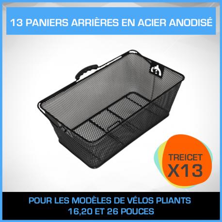 13 PANIERS ARRIÈRES EN ACIER ANODISÉ - PACK TREICET