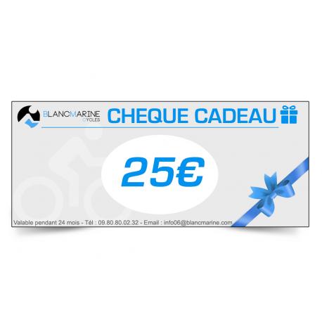 CHÈQUE CADEAU BLANC MARINE - 25 EUROS