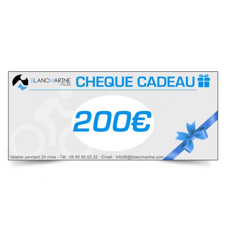 CHÈQUE CADEAU BLANC MARINE - 200 EUROS