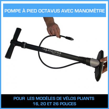 Pompe à pied Octavus Pro avec manomètre
