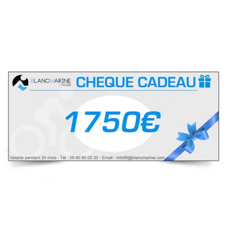 CHÈQUE CADEAU BLANC MARINE - 1750 EUROS