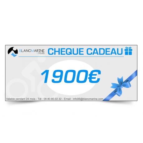 CHÈQUE CADEAU BLANC MARINE - 1950 EUROS
