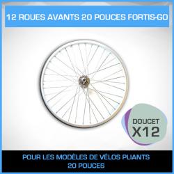 12 ROUES AVANTS VELO PLIANT 20 POUCES FORTIS-GO - PACK DOUCET