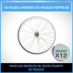 12 ROUES ARRIÈRES 20 POUCES FORTIS-GO - PACK DOUCET
