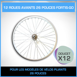 12 ROUES AVANTS 26 POUCES FORTIS-GO - PACK DOUCET