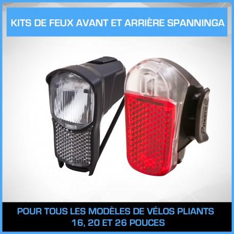Kit de feux avant et arrière Spanninga Illico / Presto