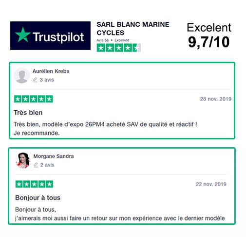 Avis Blanc marine sur Trustpilot