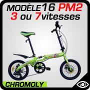 vélo pliant 16 pouces Blancmarine mdèle 16PM2