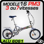 vélo pliant 16 pouces Blancmarine mdèle 16PM3